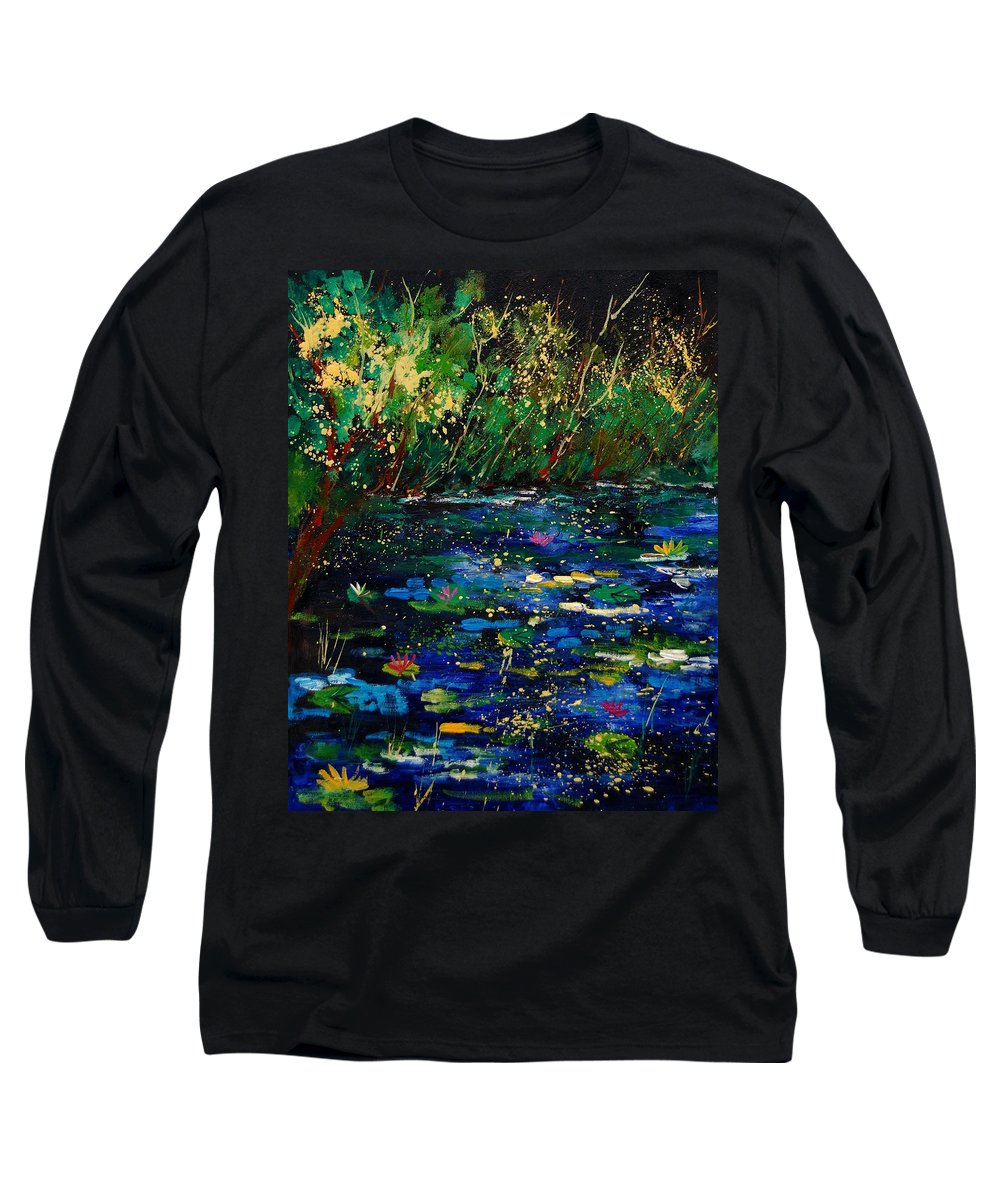 Water Long Sleeve T-Shirt featuring the painting Pond 459030 by Pol Ledent