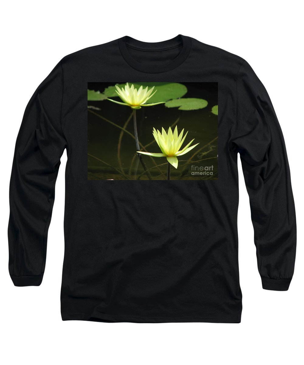 Pond Long Sleeve T-Shirt featuring the photograph Pond by Amanda Barcon