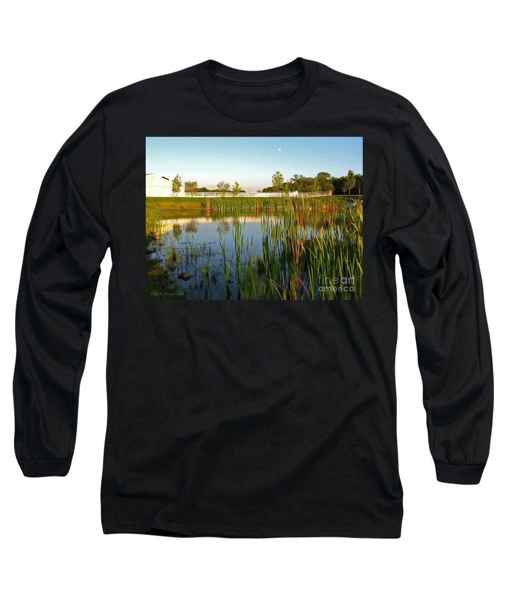 Landscape Long Sleeve T-Shirt featuring the photograph Pond At Sunset by Todd A Blanchard