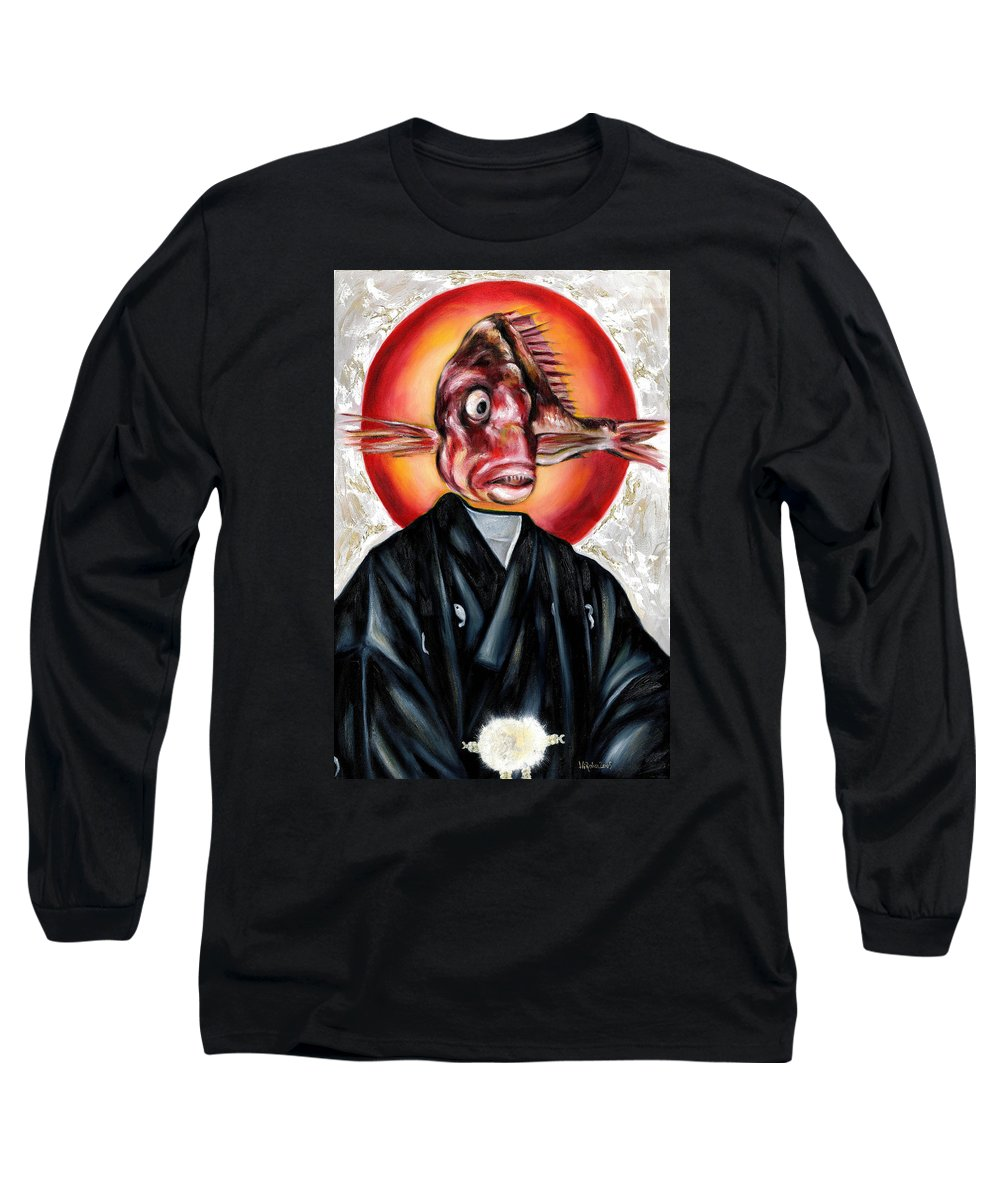 Japanese Long Sleeve T-Shirt featuring the painting Portrait by Hiroko Sakai