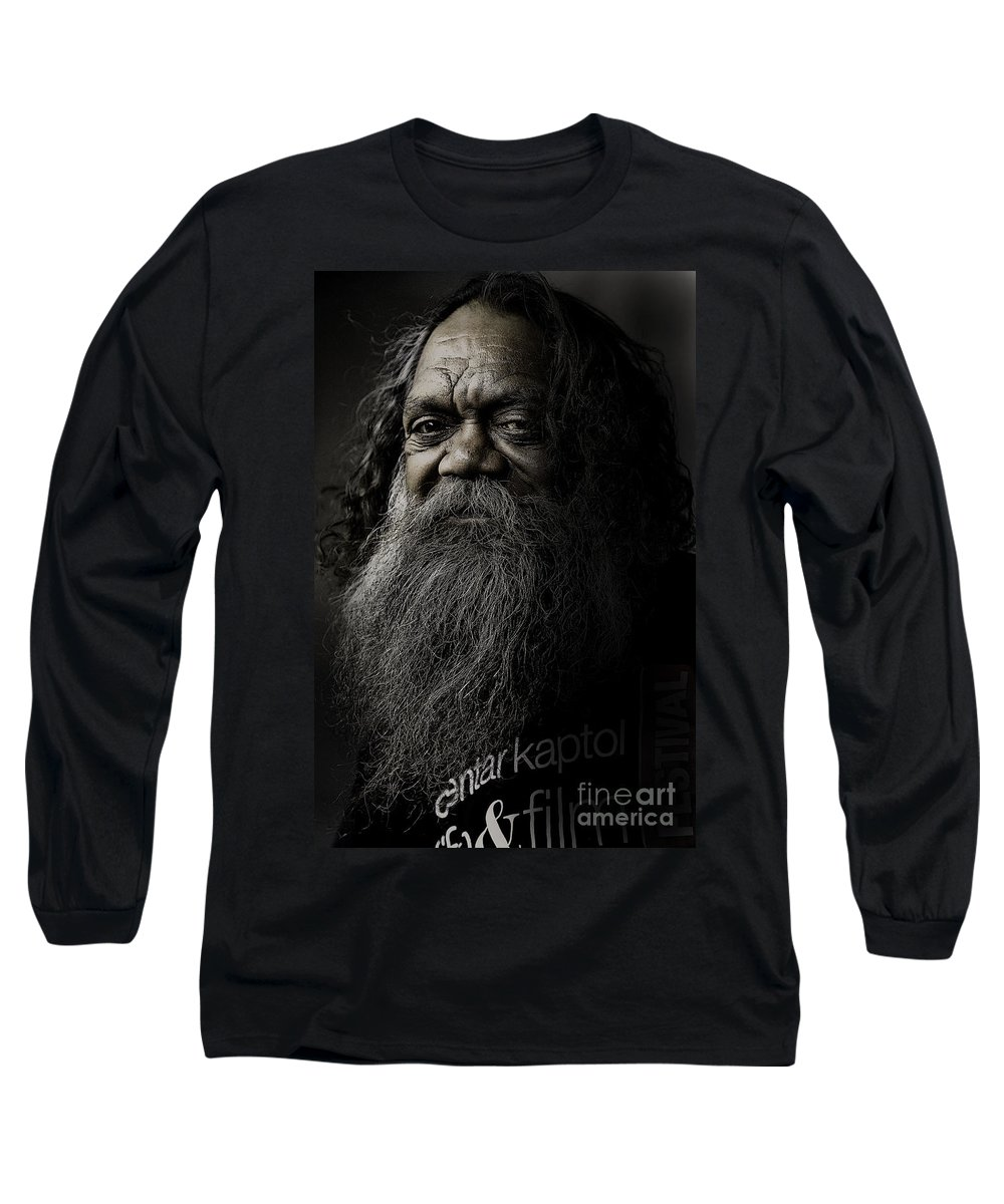 Aboriginal Long Sleeve T-Shirt featuring the photograph Portrait Of Cedric by Sheila Smart Fine Art Photography