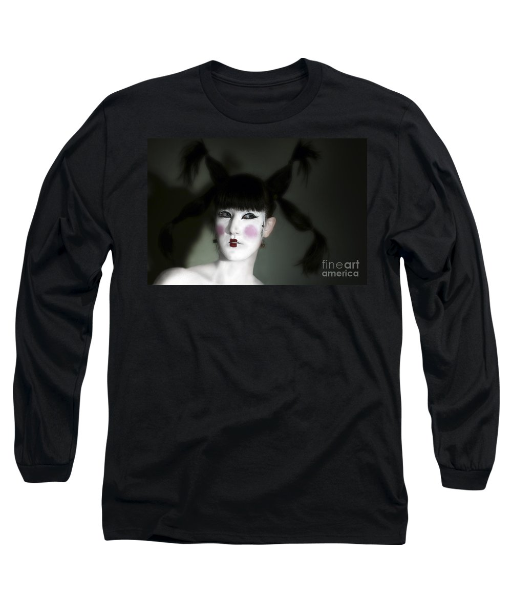 Portrait Long Sleeve T-Shirt featuring the photograph Portrait Of Japanese Model by Raphael Ben Dor
