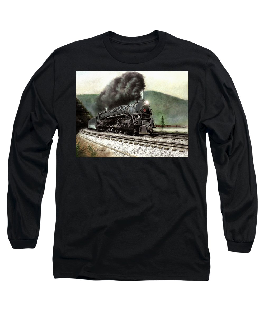 Long Sleeve T-Shirt featuring the painting Power On The Curve by David Mittner