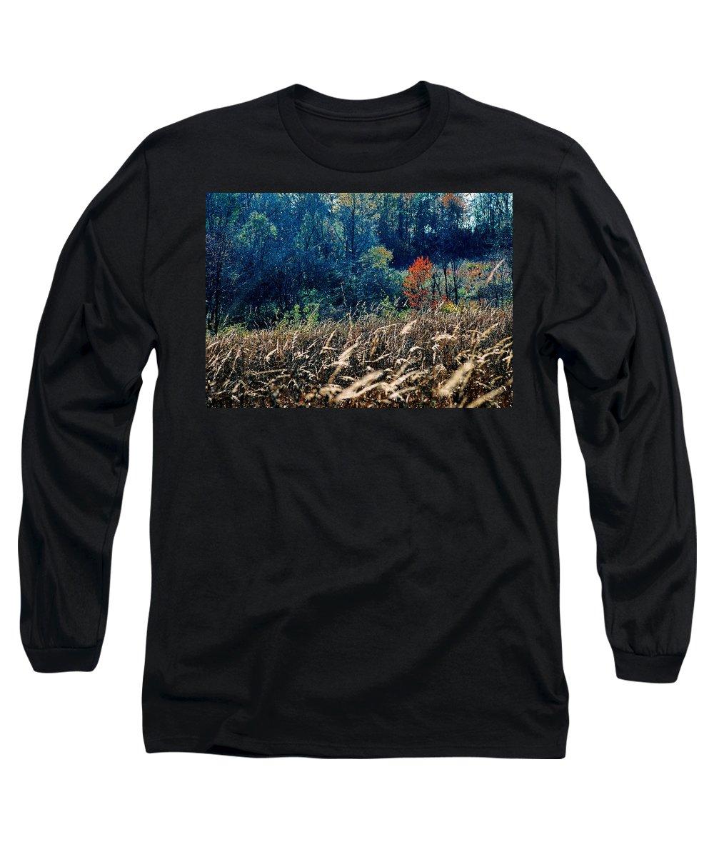Landscape Long Sleeve T-Shirt featuring the photograph Prairie Edge by Steve Karol