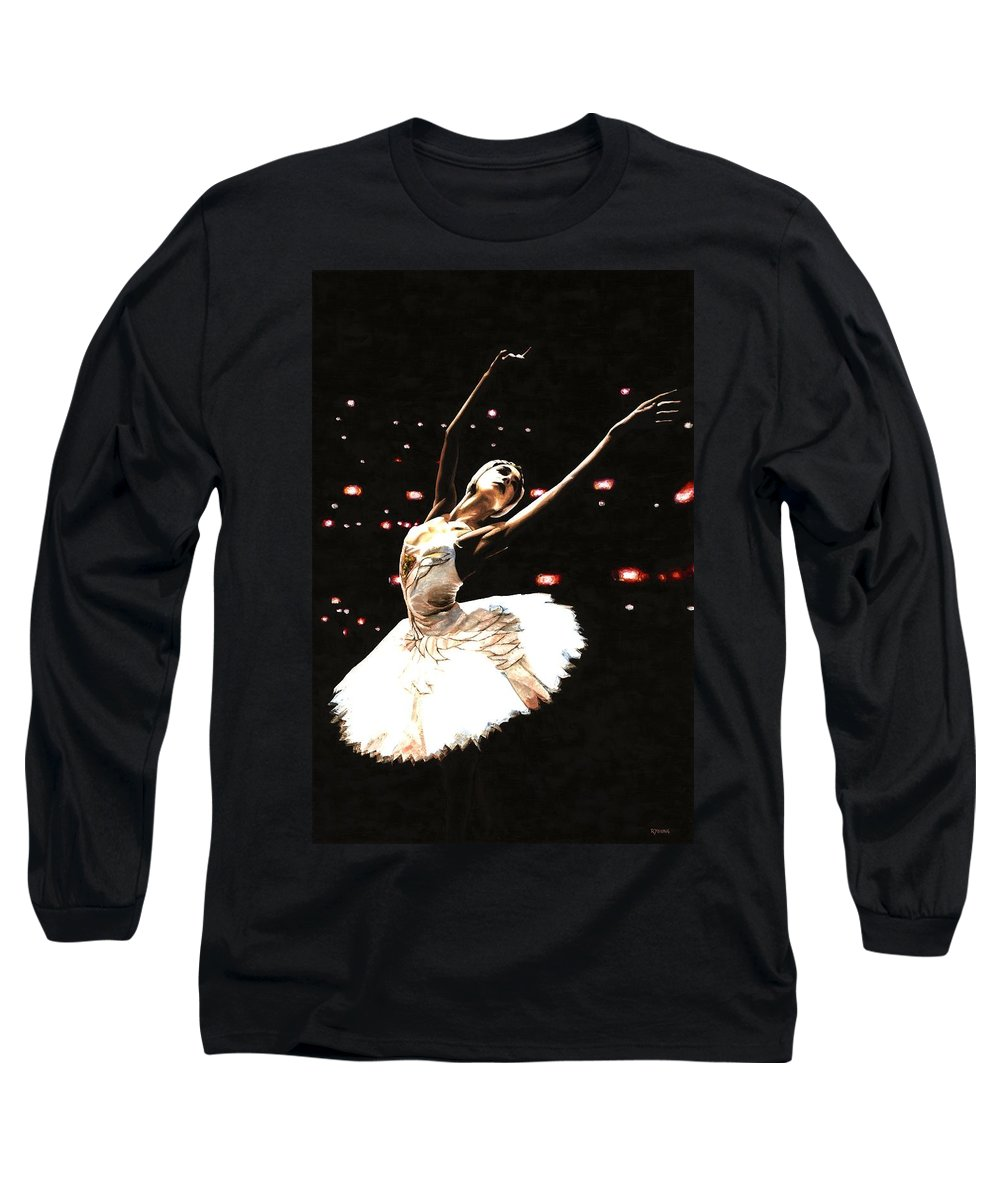 Prima Ballerina Long Sleeve T-Shirt featuring the painting Prima Ballerina by Richard Young