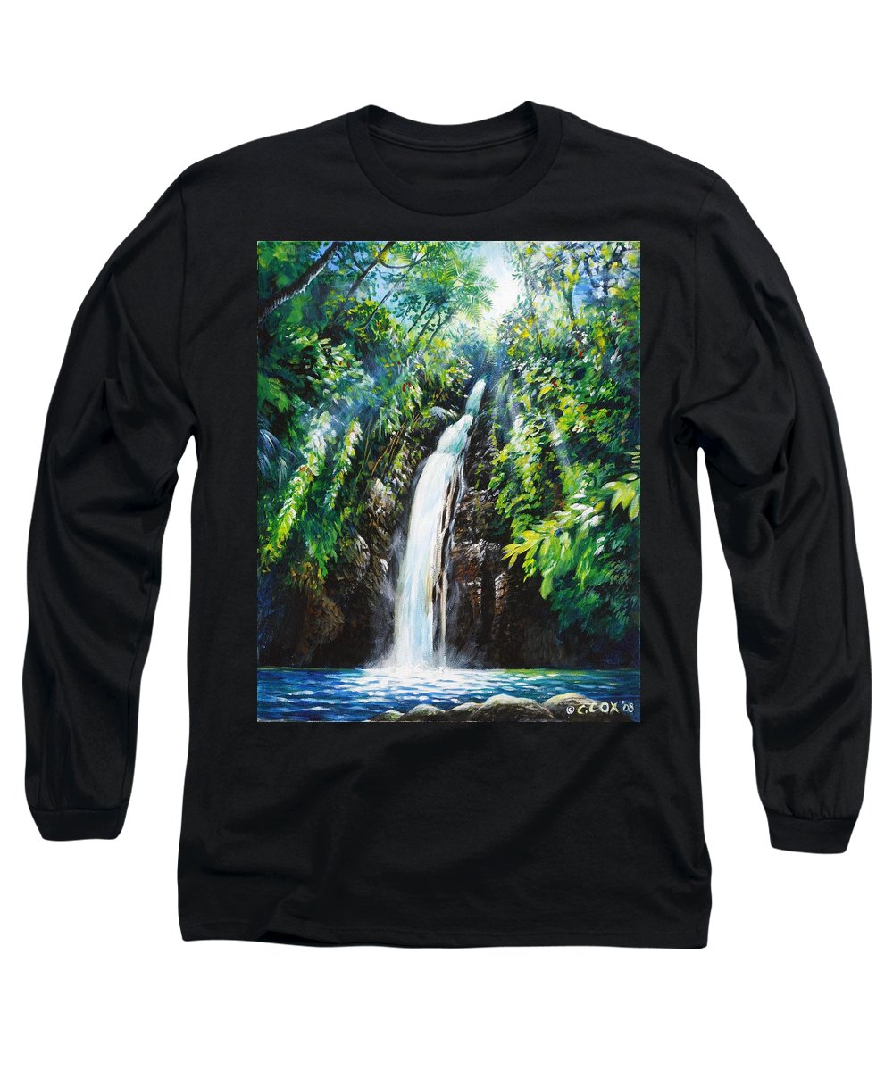 Chris Cox Long Sleeve T-Shirt featuring the painting Pristine by Christopher Cox