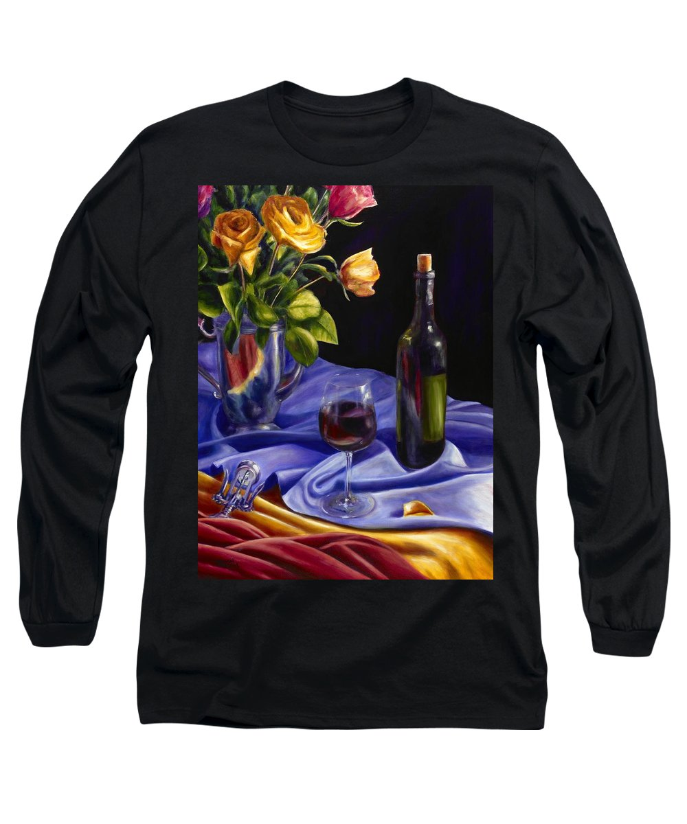 Still Life Long Sleeve T-Shirt featuring the painting Private Label by Shannon Grissom