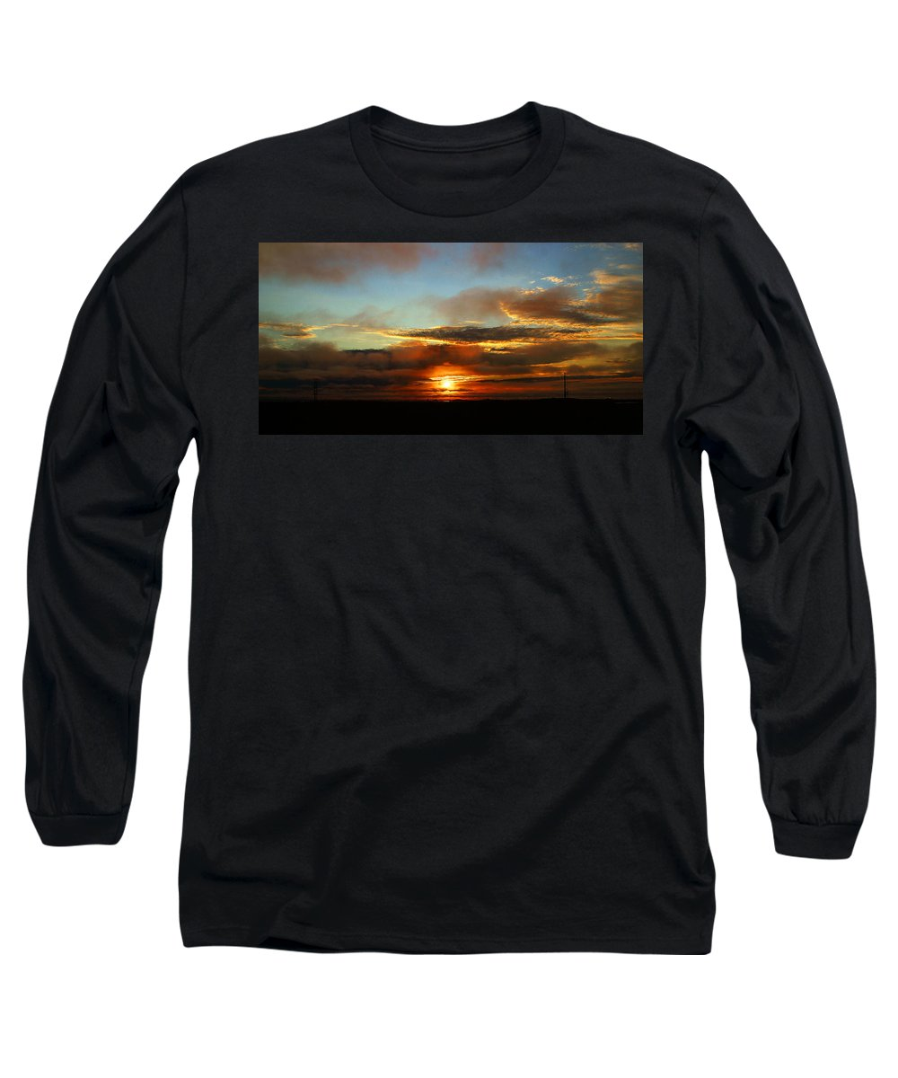 Sunset Long Sleeve T-Shirt featuring the photograph Prudhoe Bay Sunset by Anthony Jones