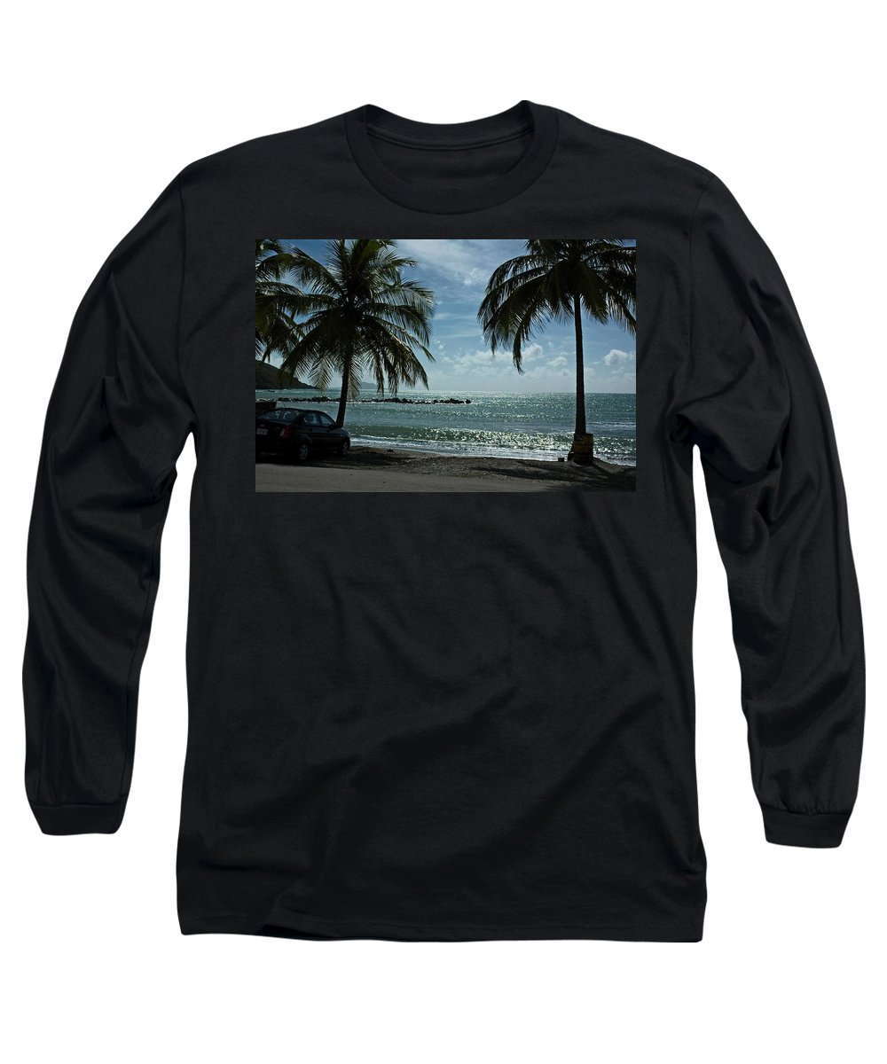 Landscape Long Sleeve T-Shirt featuring the photograph Puerto Rican Beach by Tito Santiago