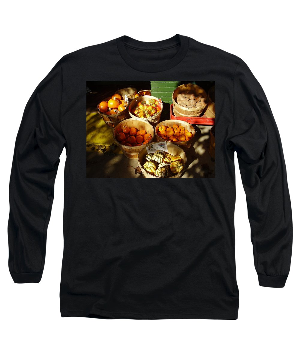 Pumpkins Long Sleeve T-Shirt featuring the photograph Pumpkins by Flavia Westerwelle