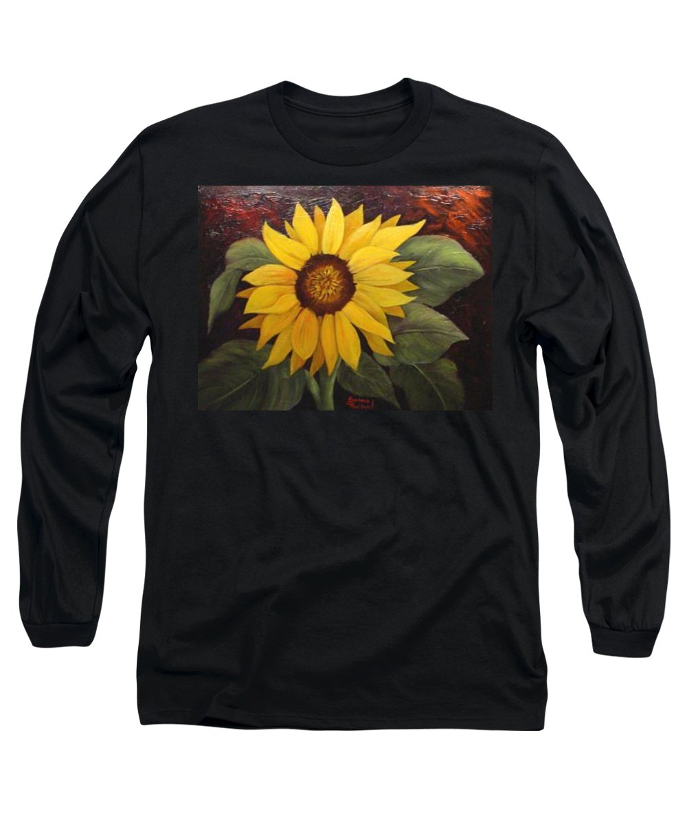 Still Life Long Sleeve T-Shirt featuring the painting Pure Sunshine Sold by Susan Dehlinger