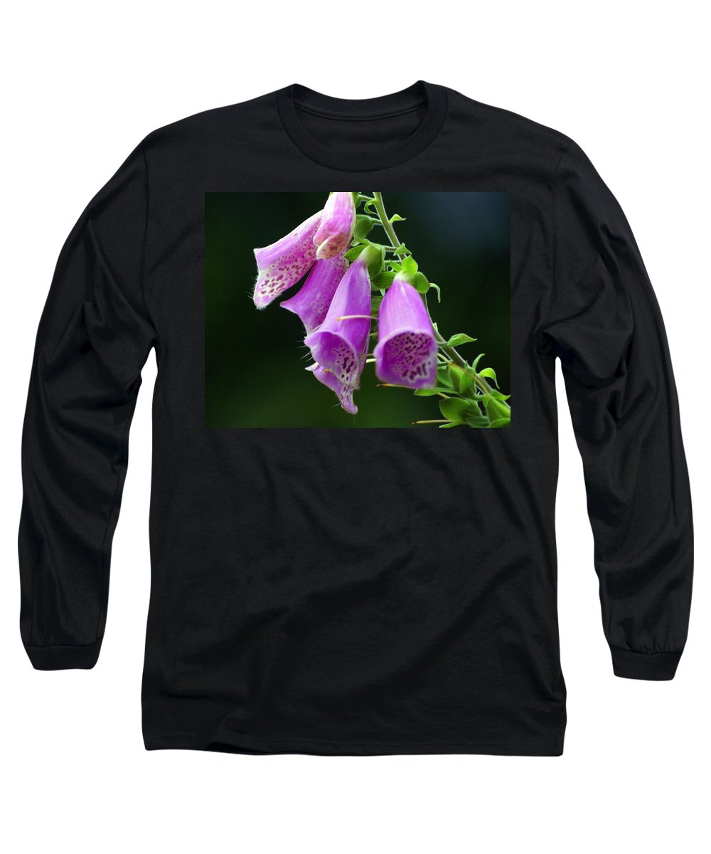 Flowers Long Sleeve T-Shirt featuring the photograph Purple Bells Horizontal by Marty Koch
