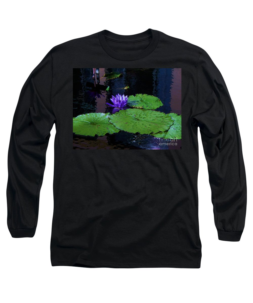 Photograph Long Sleeve T-Shirt featuring the photograph Purple Blue Lily by Eric Schiabor