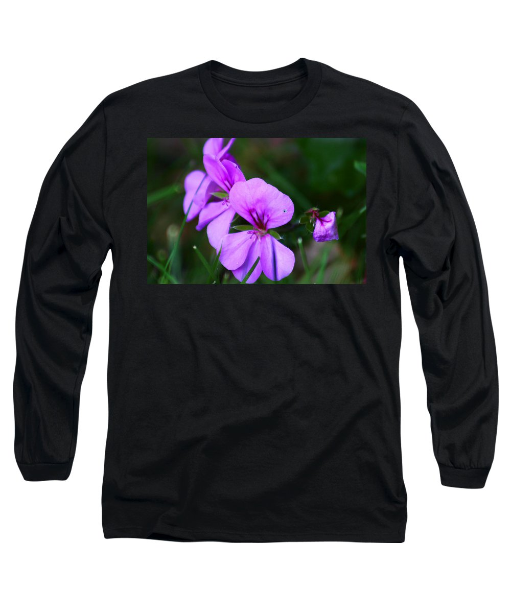 Flowers Long Sleeve T-Shirt featuring the photograph Purple Flowers by Anthony Jones