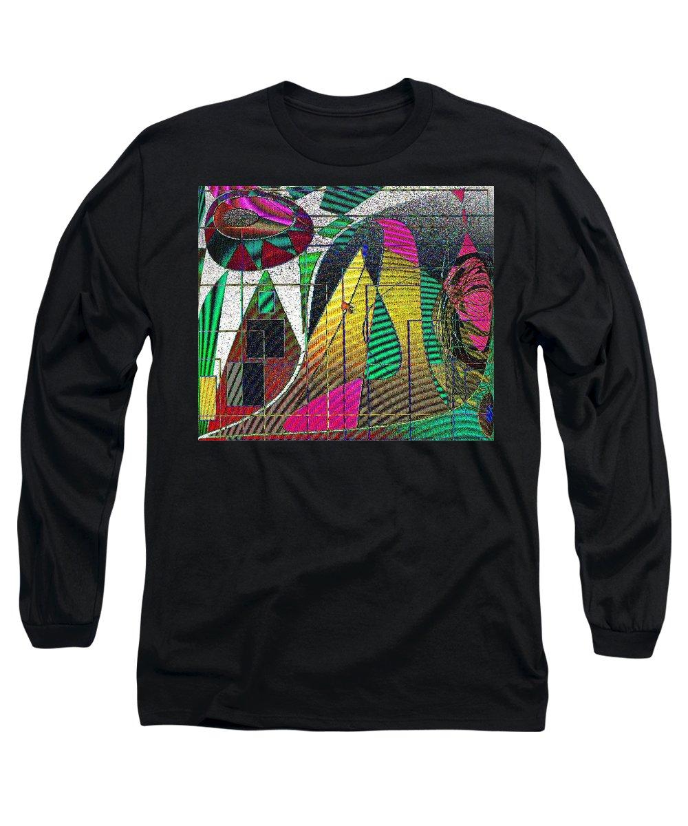 Purple Long Sleeve T-Shirt featuring the digital art Purple Haze by Ian MacDonald