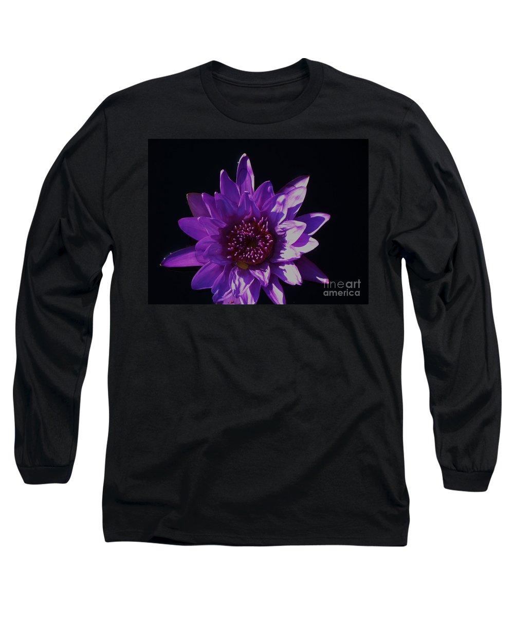 Photograph Long Sleeve T-Shirt featuring the photograph Purple Lily Monet by Eric Schiabor