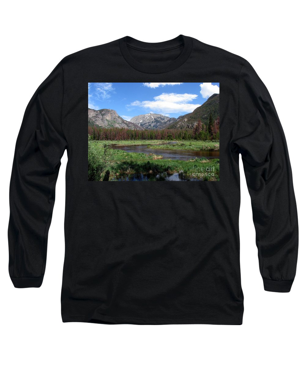 Nature Long Sleeve T-Shirt featuring the photograph Quiet by Amanda Barcon