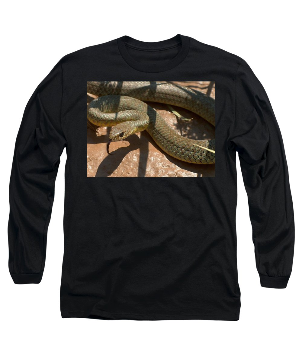 Green Racer Long Sleeve T-Shirt featuring the photograph Racer On The Rio Grande by Tim McCarthy