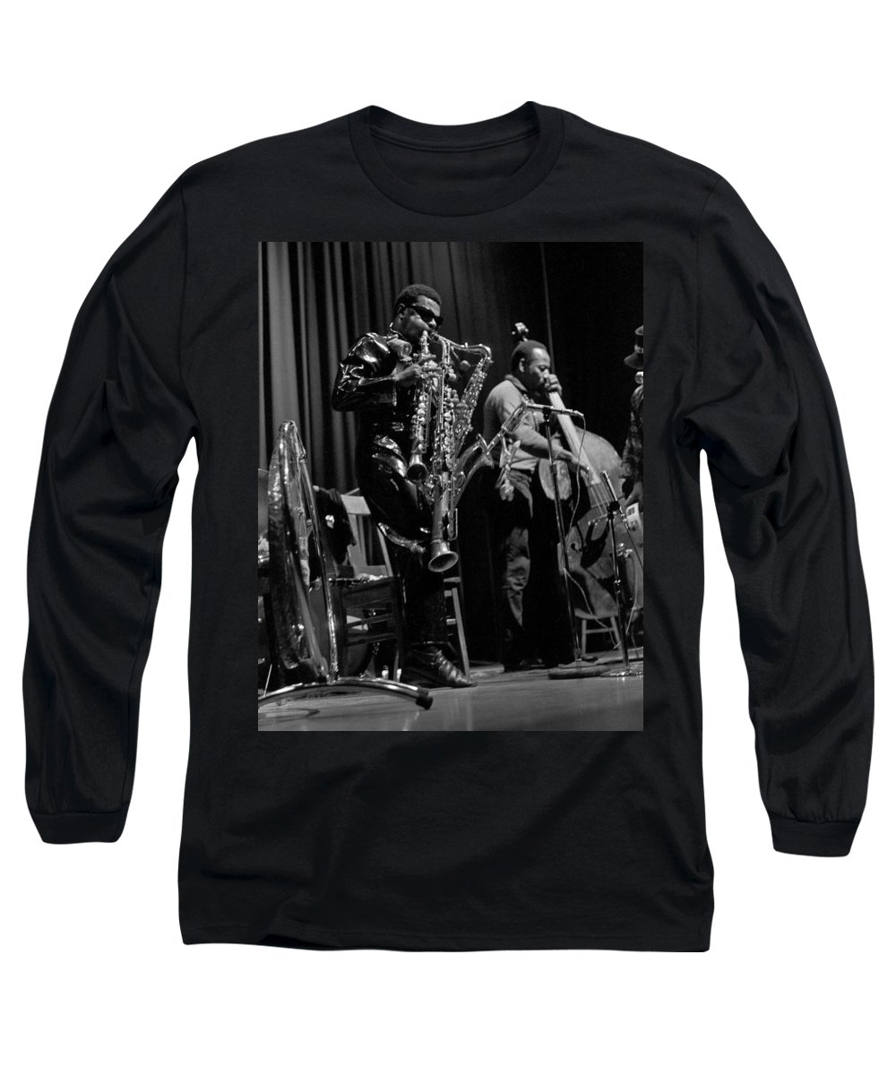 Rahsaan Roland Kirk Long Sleeve T-Shirt featuring the photograph Rahsaan Roland Kirk 1 by Lee Santa