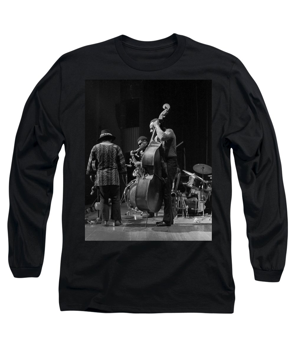 Rahsaan Roland Kirk Long Sleeve T-Shirt featuring the photograph Rahsaan Roland Kirk 2 by Lee Santa