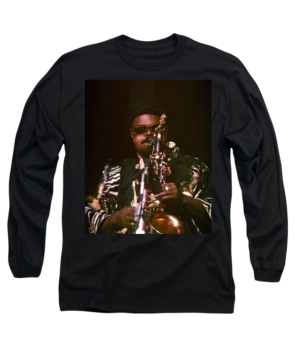 Rahsaan Roland Kirk Long Sleeve T-Shirt featuring the photograph Rahsaan Roland Kirk 3 by Lee Santa