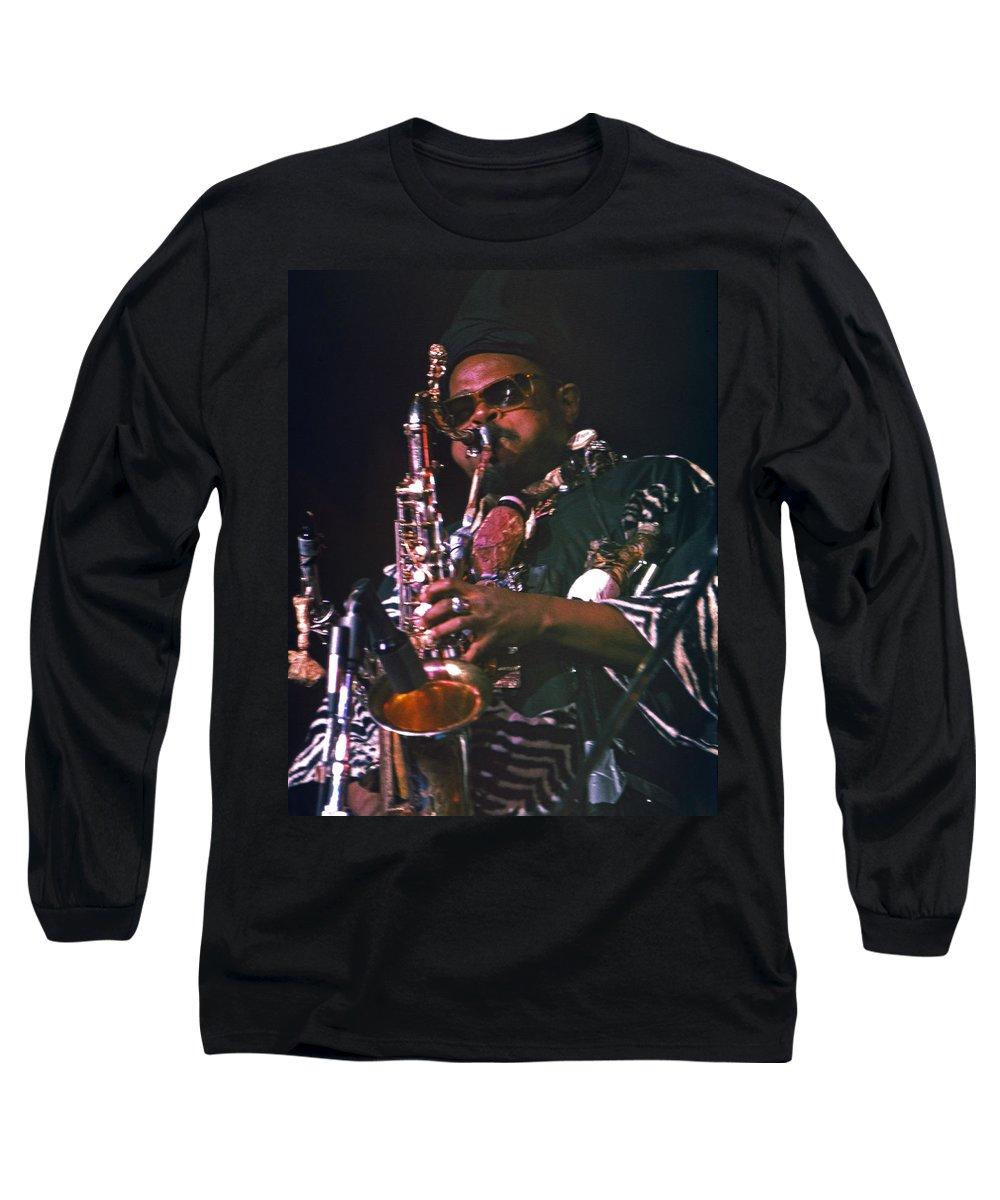 Rahsaan Roland Kirk Long Sleeve T-Shirt featuring the photograph Rahsaan Roland Kirk 4 by Lee Santa