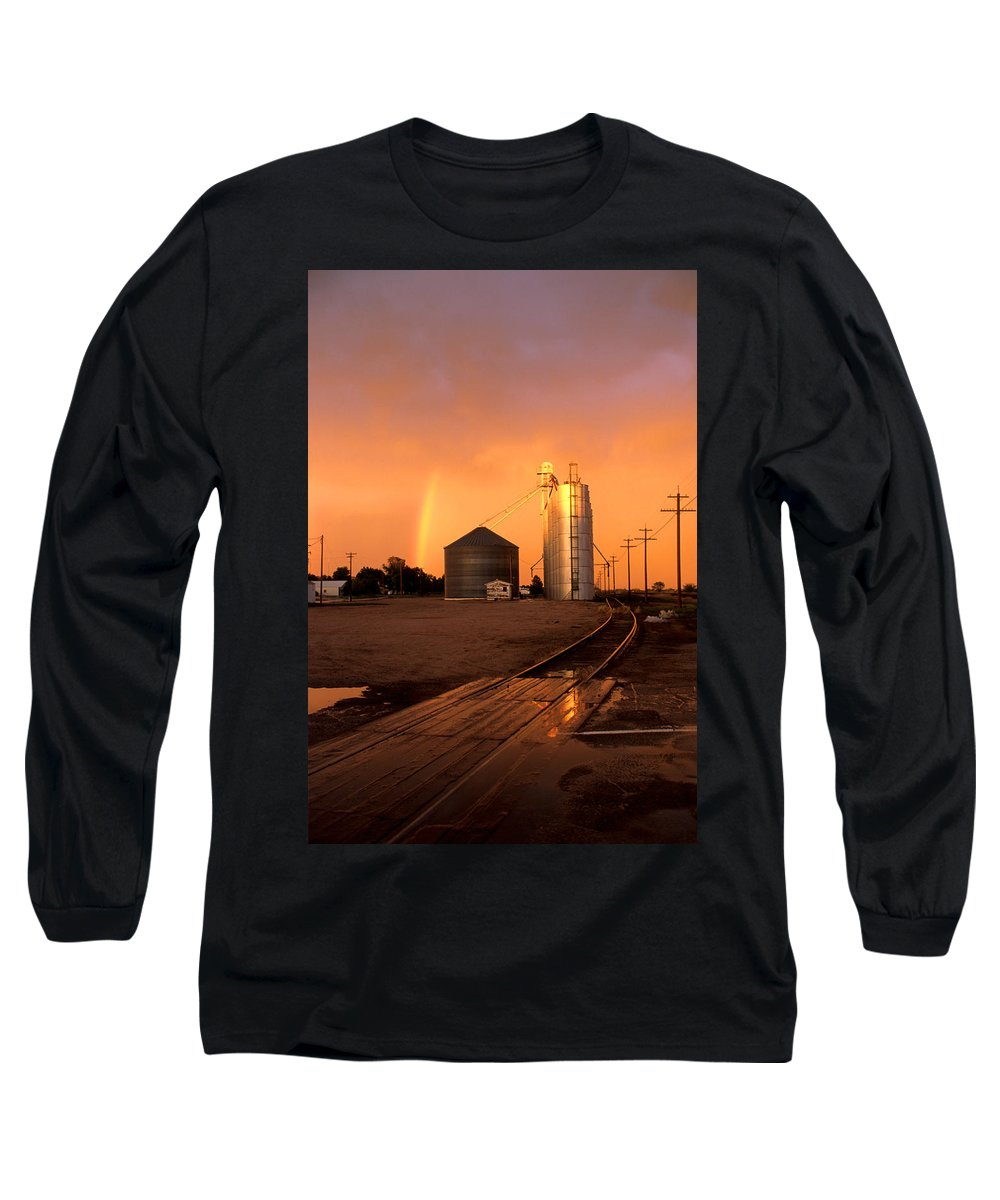 Potter Long Sleeve T-Shirt featuring the photograph Rainbow In Potter by Jerry McElroy