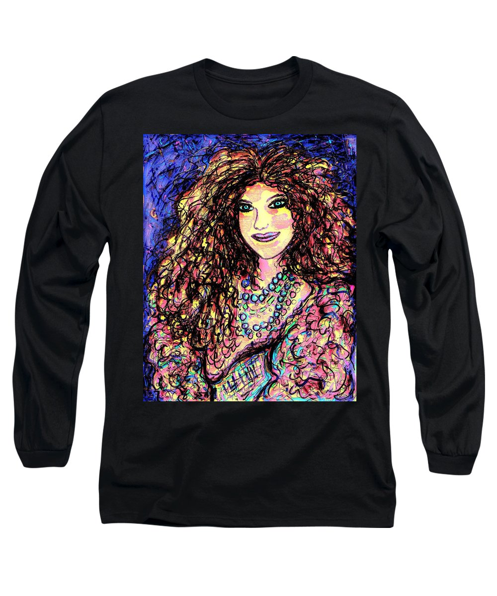 Woman Long Sleeve T-Shirt featuring the painting Ravishing Beauty by Natalie Holland