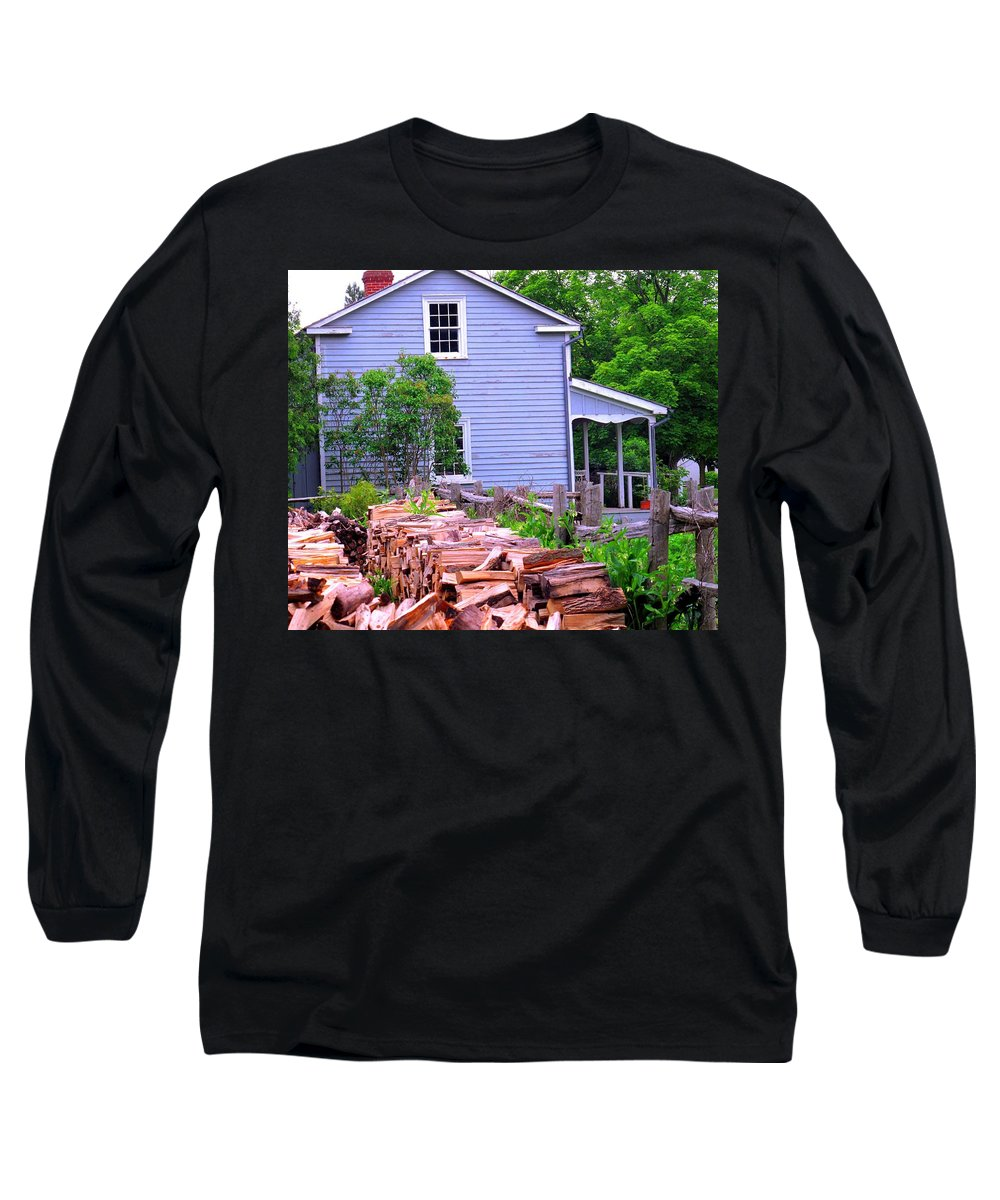 Pioneer Long Sleeve T-Shirt featuring the photograph Ready For Winter by Ian MacDonald