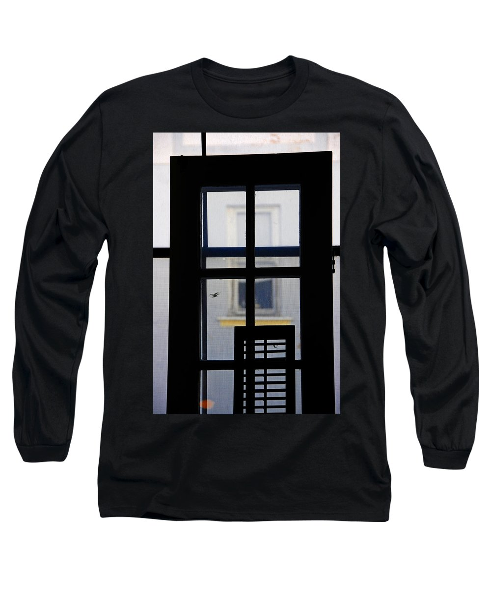 Architecture Long Sleeve T-Shirt featuring the photograph Rear Window 2 by Skip Hunt