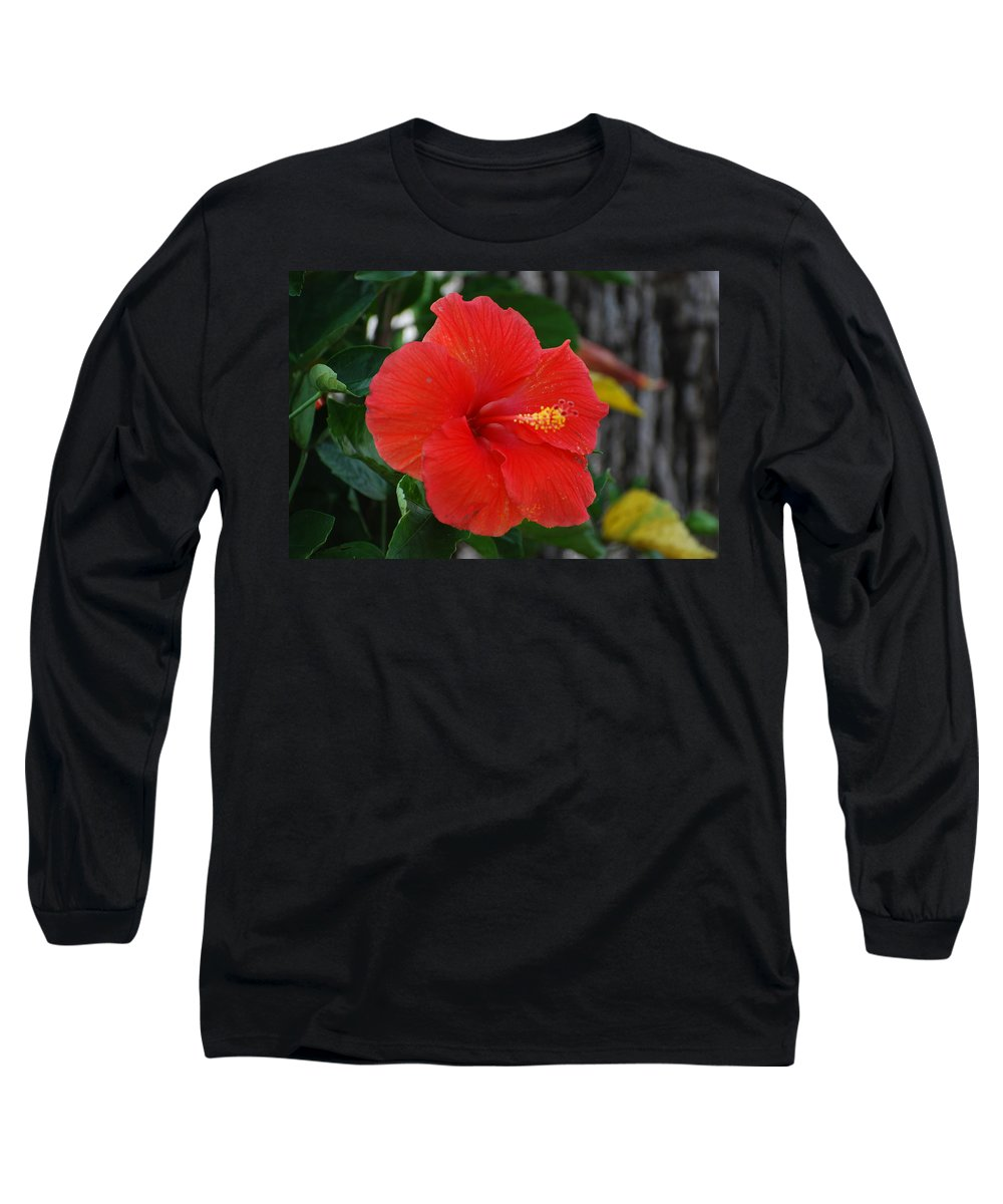 Flowers Long Sleeve T-Shirt featuring the photograph Red Flower by Rob Hans