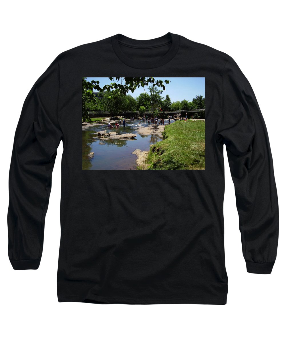 Reedy River Long Sleeve T-Shirt featuring the photograph Reedy River by Flavia Westerwelle