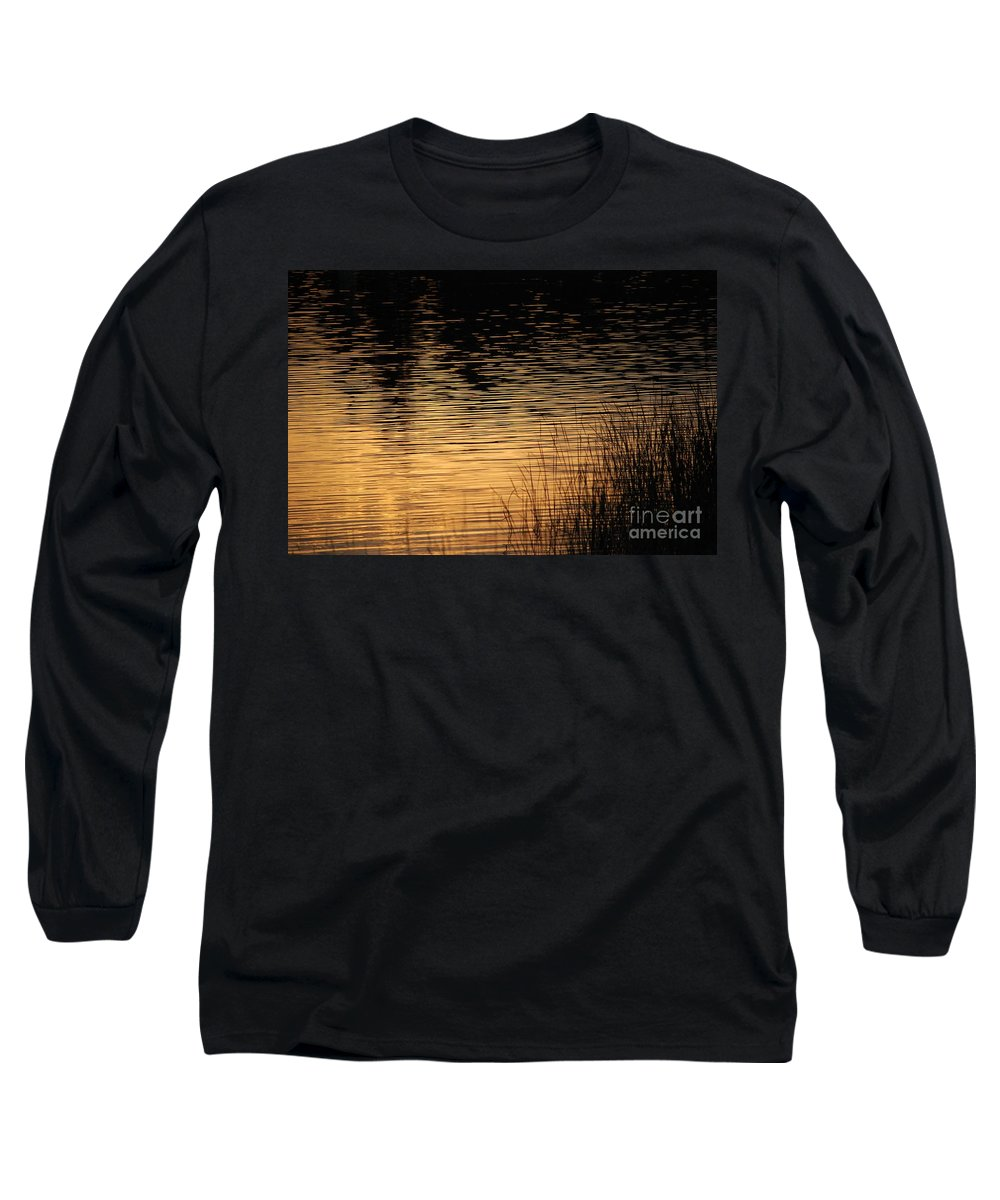 Digital Photo Long Sleeve T-Shirt featuring the photograph Reflection On A Sunset by David Lane