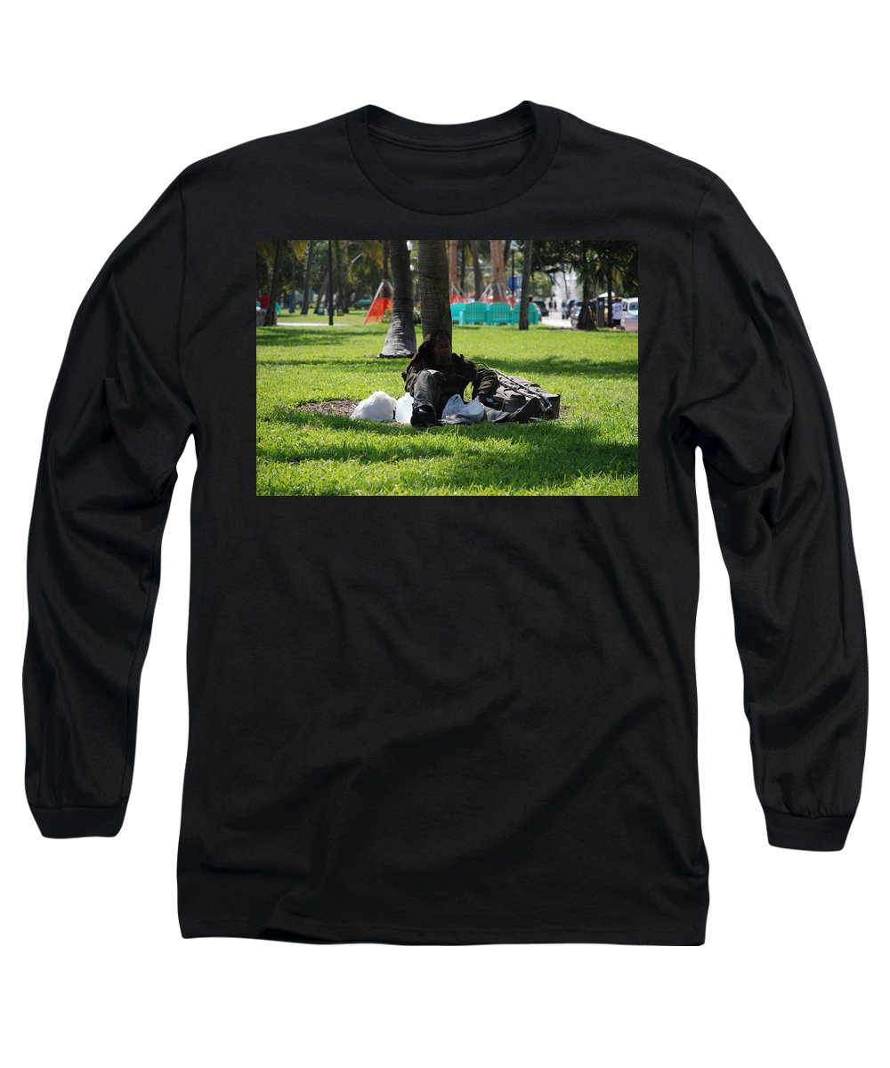 Urban Long Sleeve T-Shirt featuring the photograph Rip Van Winkle by Rob Hans