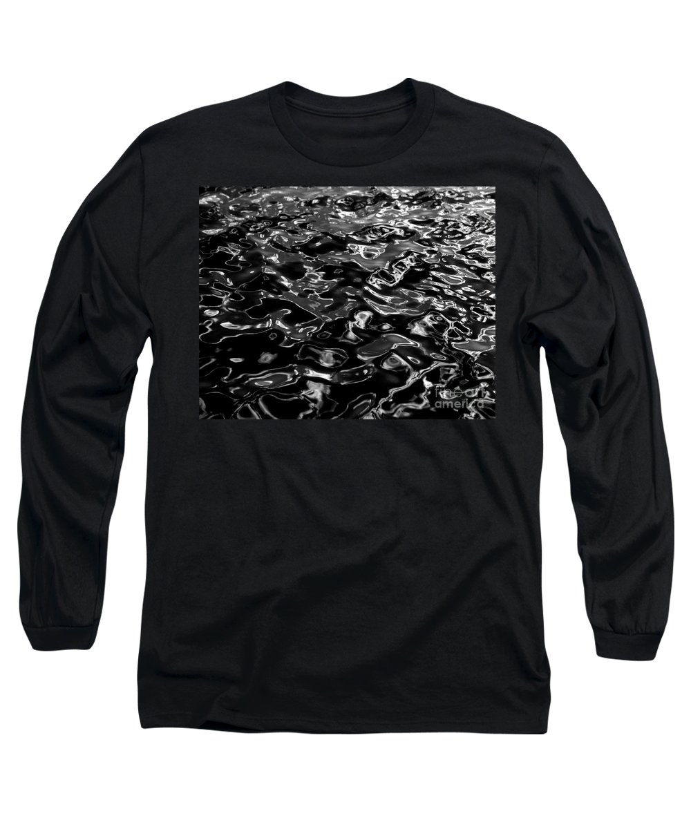 Black And White Long Sleeve T-Shirt featuring the photograph Ripples by Peter Piatt