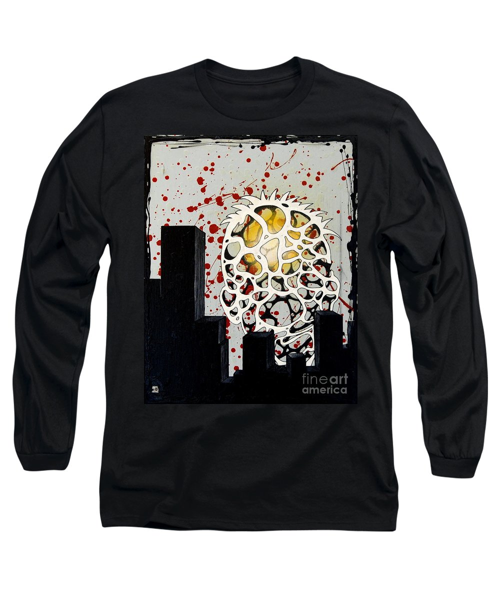 Energy Long Sleeve T-Shirt featuring the painting Rise by A 2 H D