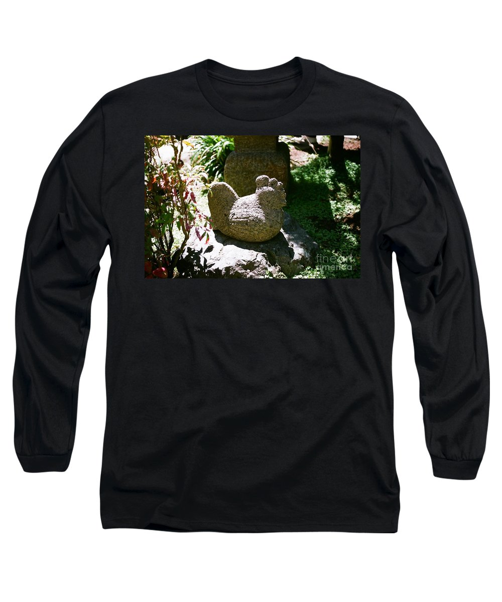 Stone Long Sleeve T-Shirt featuring the photograph Rooster by Dean Triolo