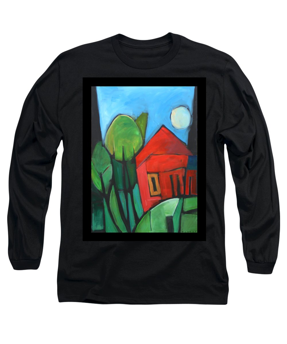 Trees Long Sleeve T-Shirt featuring the painting Root Cellar by Tim Nyberg