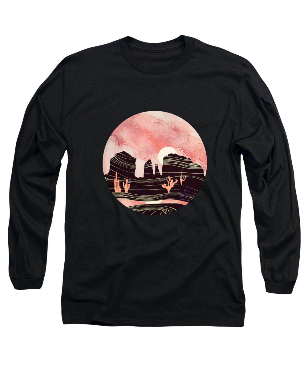 Desert Long Sleeve T-Shirt featuring the digital art Rose Desert by Spacefrog Designs
