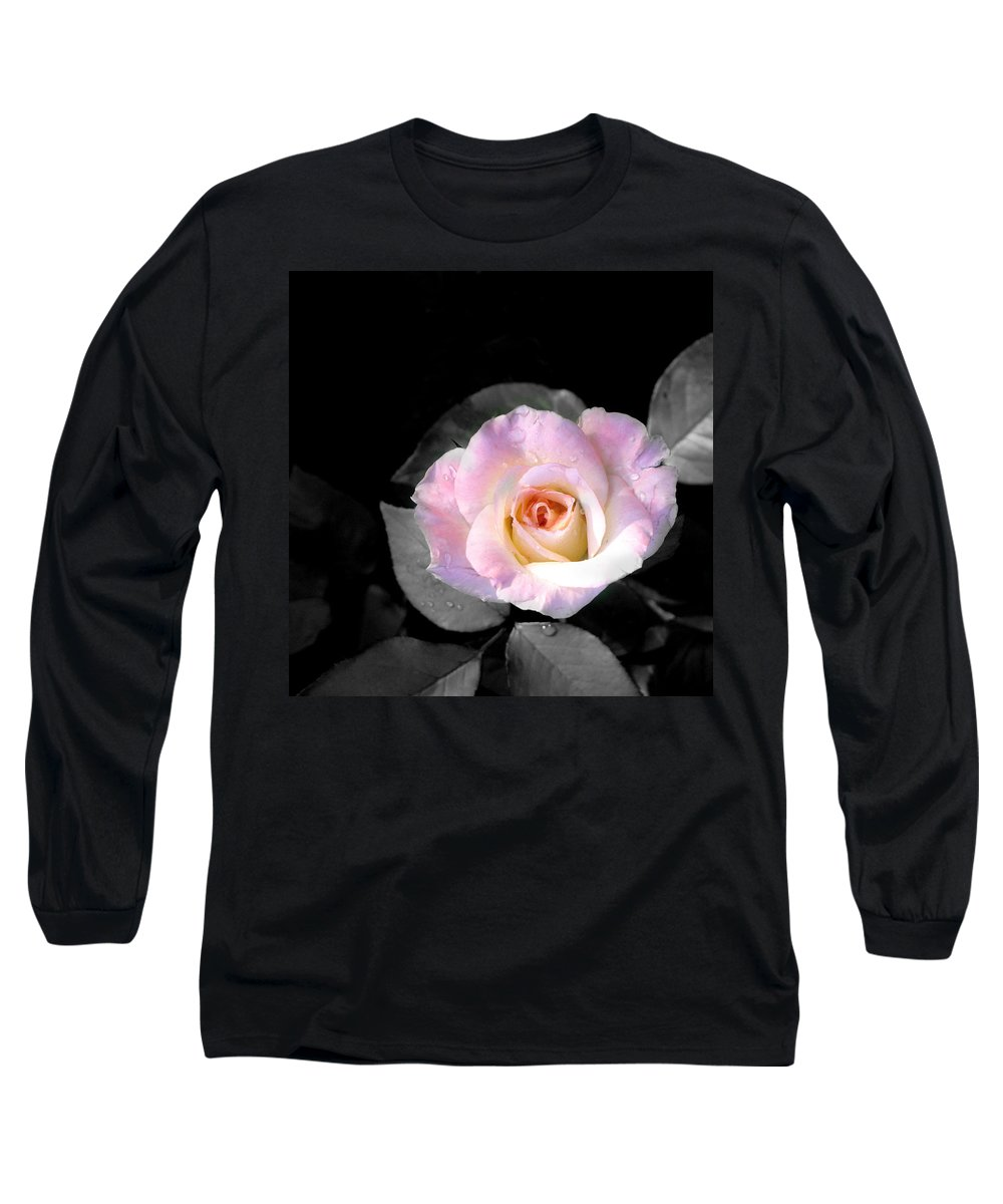 Princess Diana Rose Long Sleeve T-Shirt featuring the photograph Rose Emergance by Steve Karol