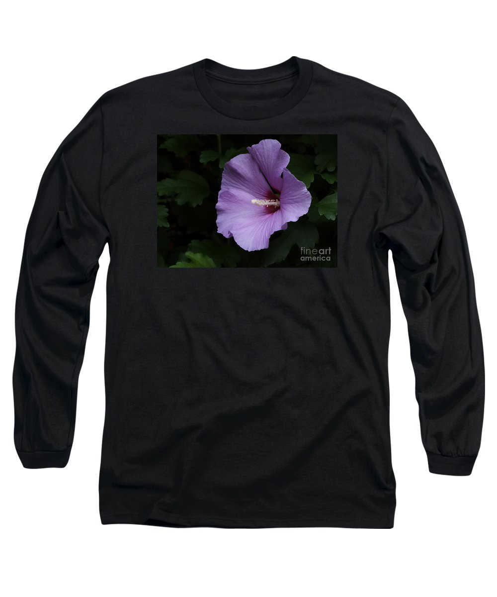 Flower Long Sleeve T-Shirt featuring the photograph Rose Of Sharon - Hibiscus Syriacus by Ann Horn
