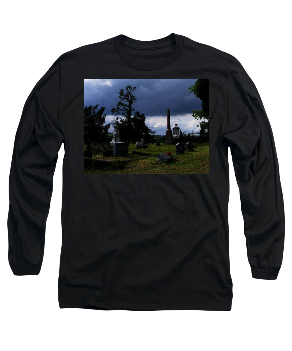 Landscape Long Sleeve T-Shirt featuring the photograph Roses After The Storm by Rachel Christine Nowicki