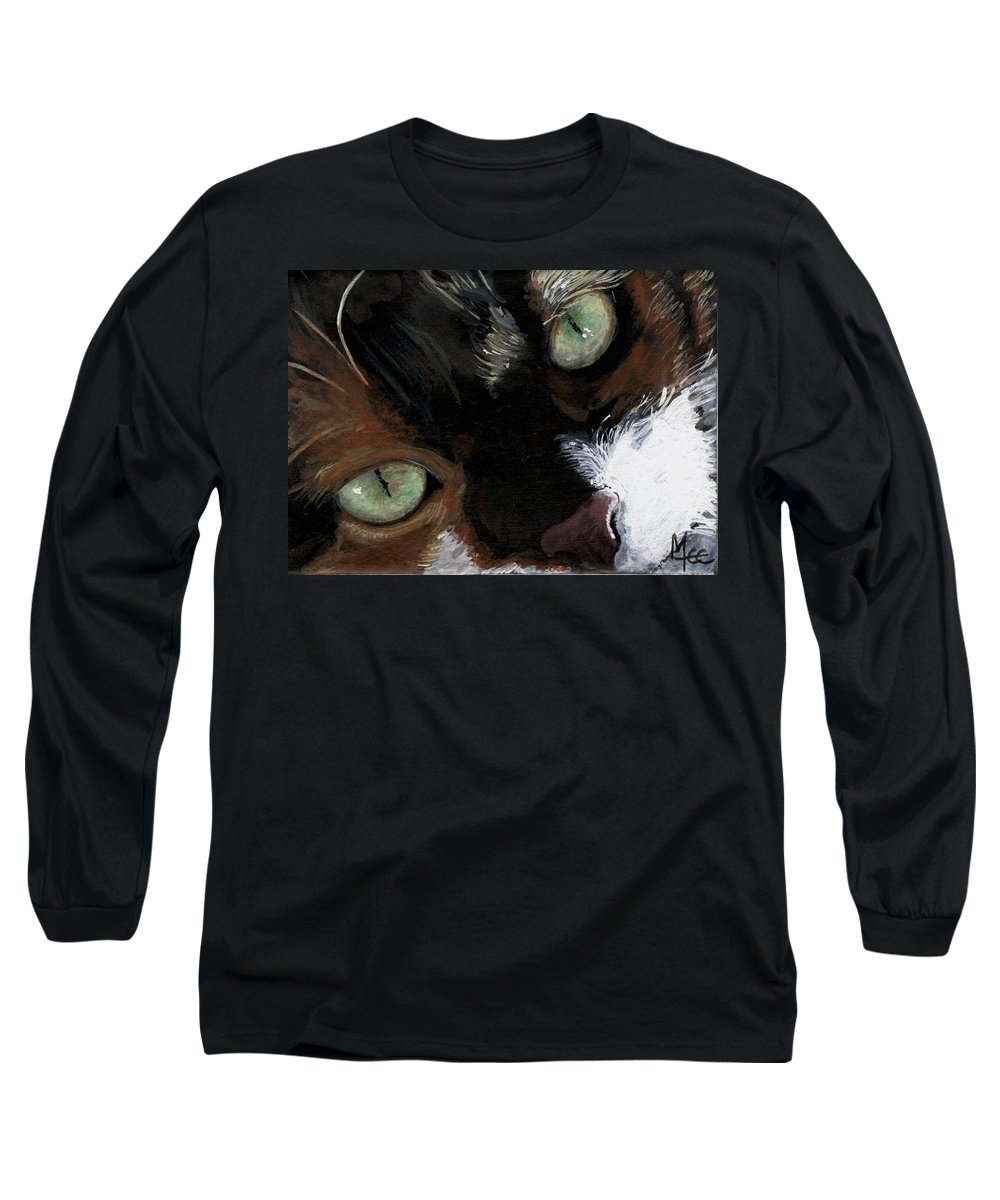 Charity Long Sleeve T-Shirt featuring the painting Rosie by Mary-Lee Sanders