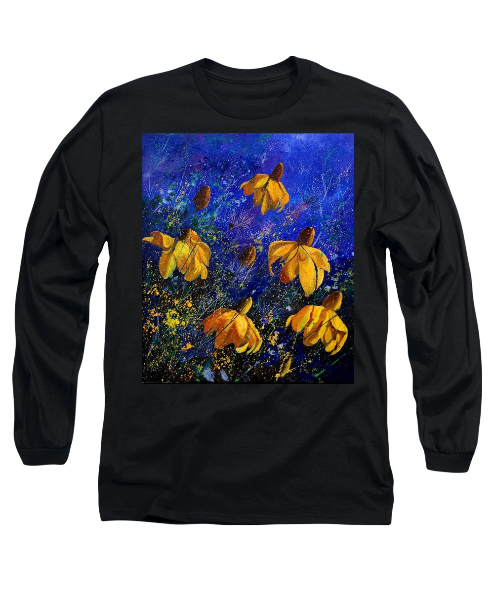 Poppies Long Sleeve T-Shirt featuring the painting Rudbeckia's by Pol Ledent