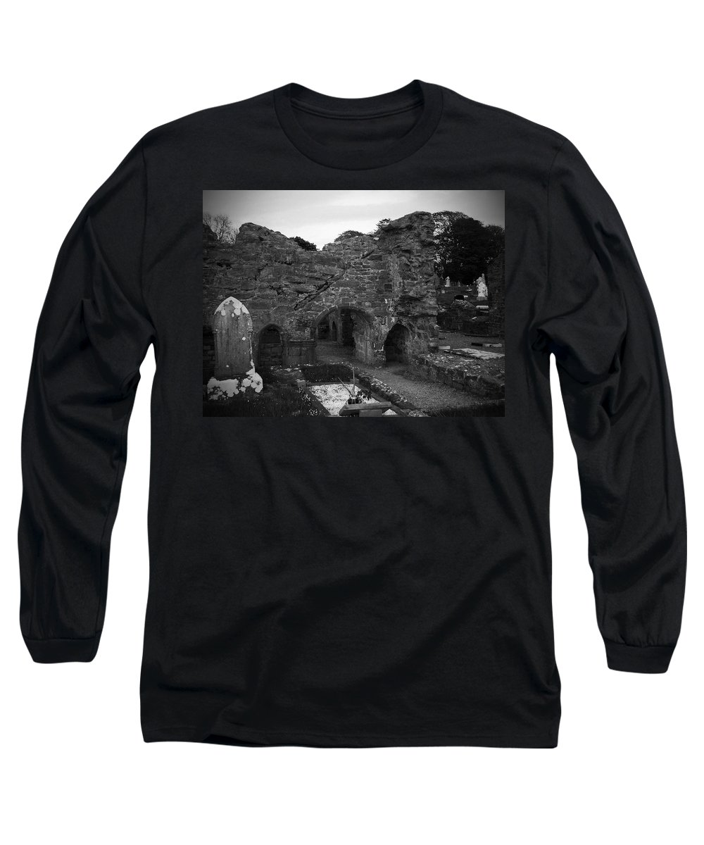 Irish Long Sleeve T-Shirt featuring the photograph Ruins At Donegal Abbey Donegal Ireland by Teresa Mucha