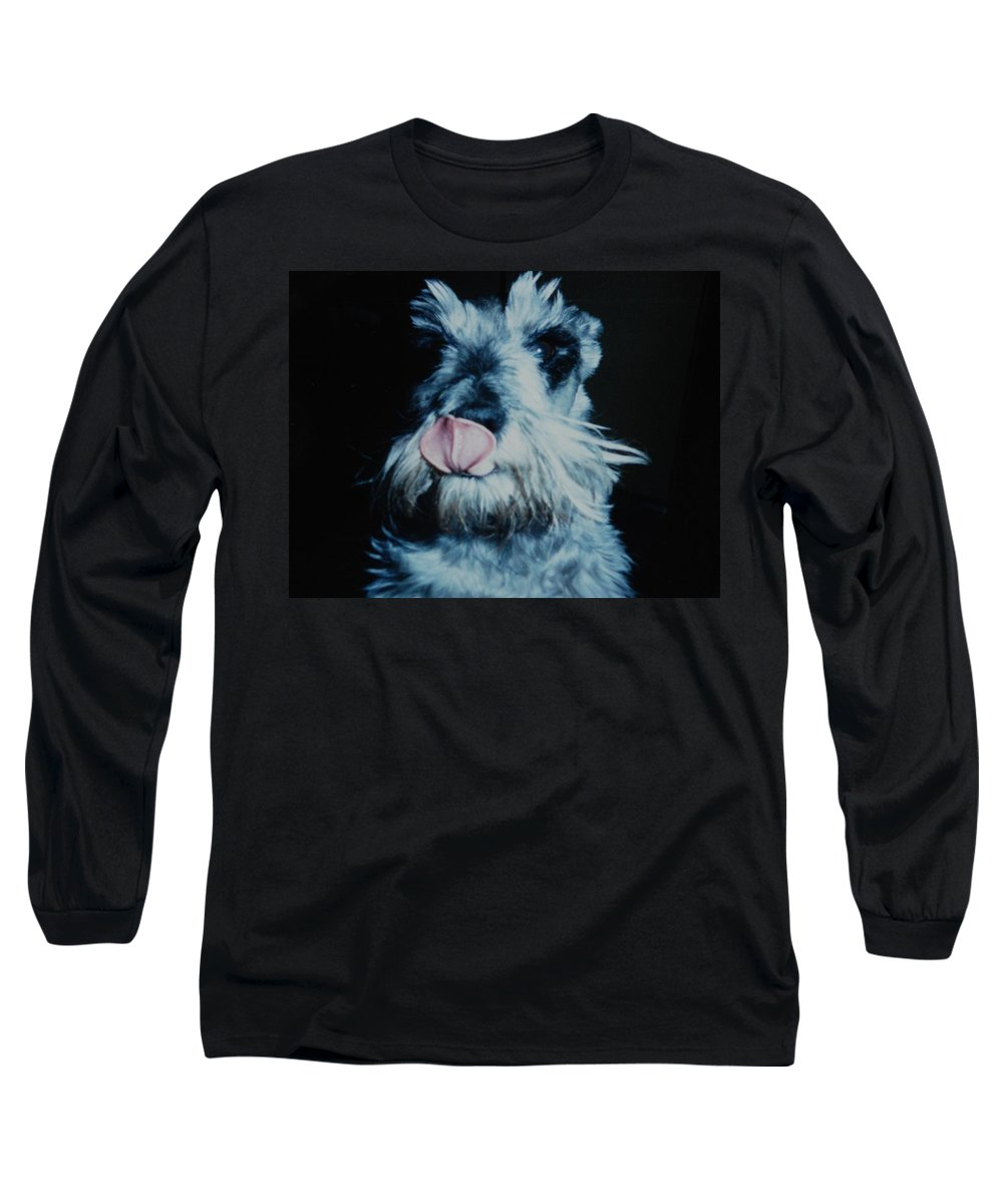 Dogs Long Sleeve T-Shirt featuring the photograph Sam The Fat Cow by Rob Hans