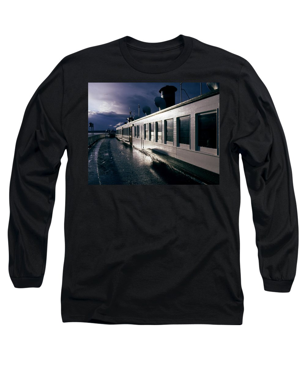 Scenic Long Sleeve T-Shirt featuring the photograph San Juan Islands Ferry by Lee Santa