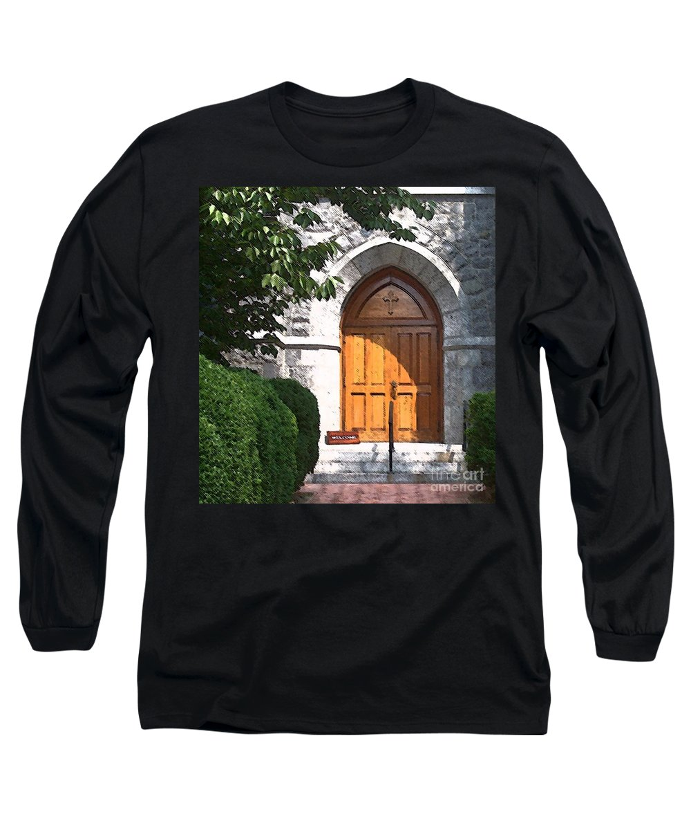 Church Long Sleeve T-Shirt featuring the photograph Sanctuary by Debbi Granruth