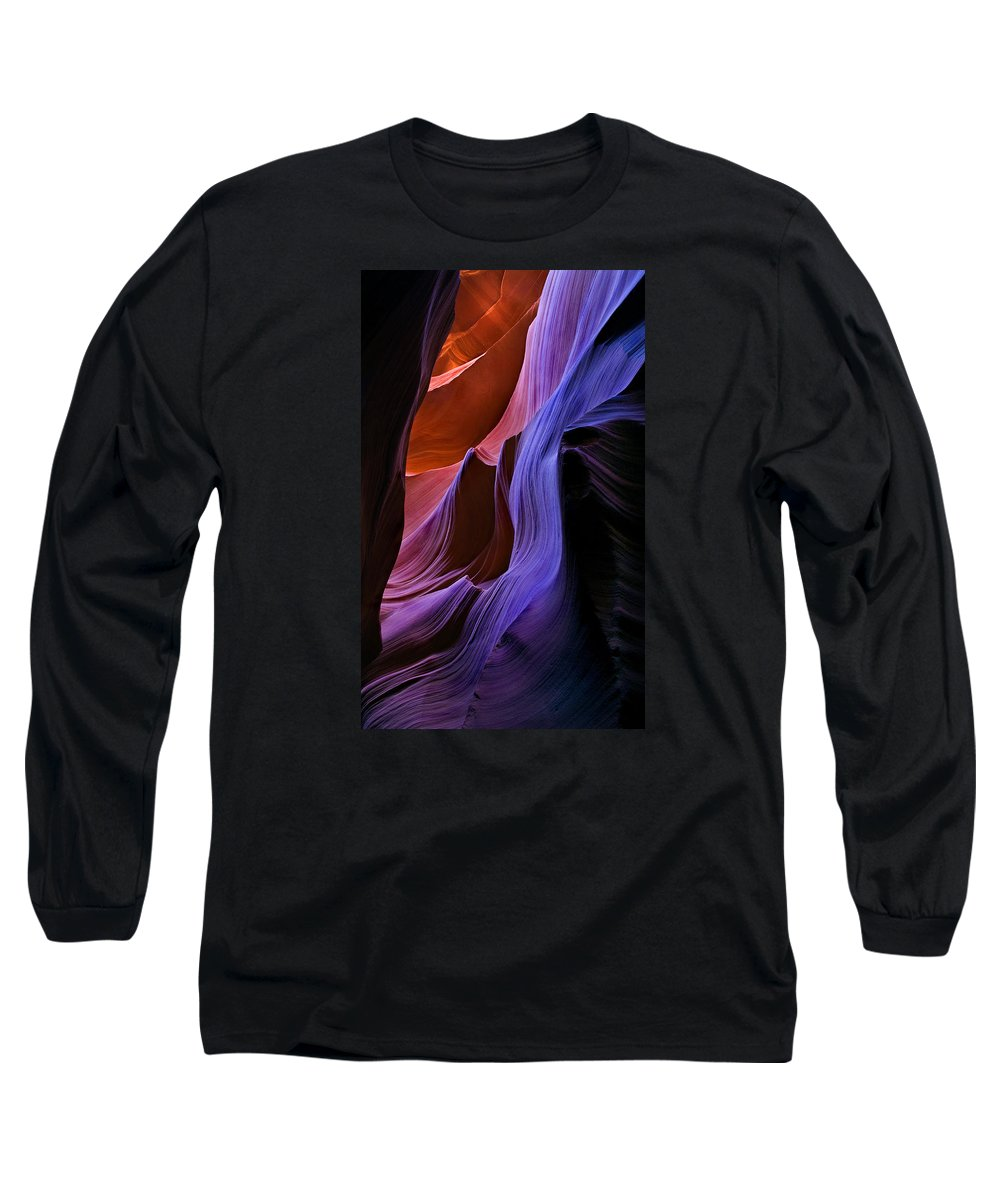 Sandstone Long Sleeve T-Shirt featuring the photograph Sandstone Cascade by Mike Dawson