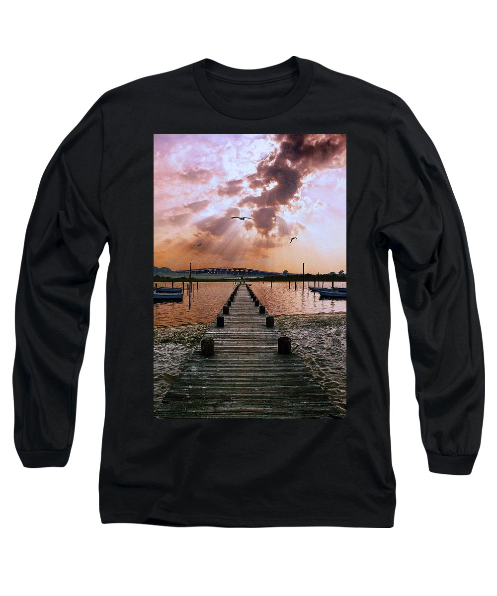 Seascape Long Sleeve T-Shirt featuring the photograph Seaside by Steve Karol